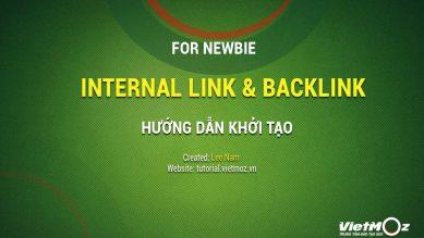 Cách tạo Internal Link và Backlink cho newbie